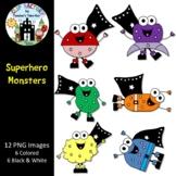 Superhero Monsters Clip Art