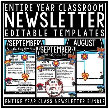 Superhero Theme- Newsletter Template Editable