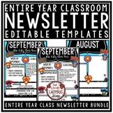 Superhero Theme Classroom Monthly & Weekly Newsletter Template Editable