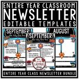 Superhero Classroom Theme Monthly & Weekly Newsletter Temp