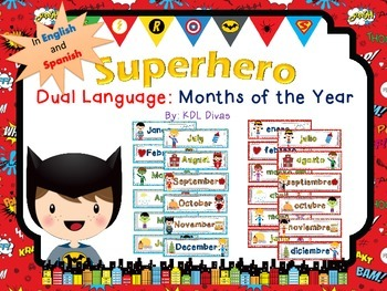Superhero Months of the Year: Dual Language