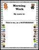 Superhero Morning Review Workbook
