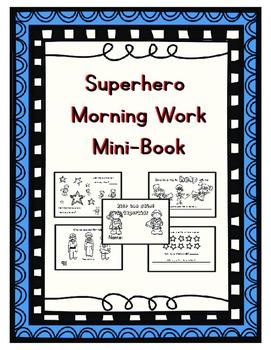 Superhero Morning Work Mini-Book