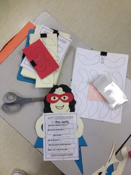 Superhero Mother's Day Writing Activity