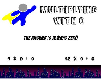 Superhero Multiplication Posters
