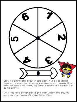 Superhero Multiplication Spin and Solve Math Centers