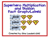 Superhero Multiplication and Division Fact Graph/Labels