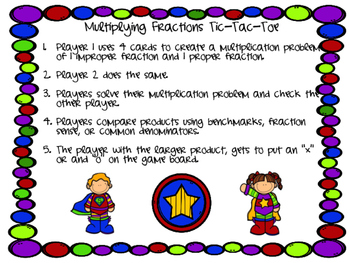 Superhero Multiplying Fractions and Mixed Numbers