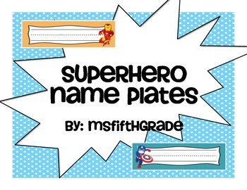Superhero Name Plates