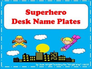 Superhero Name Plates {editable}