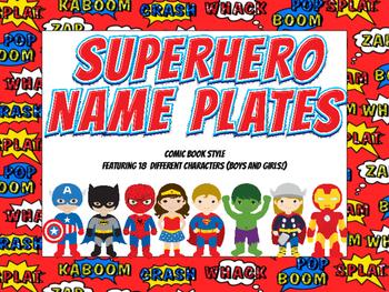 Superhero Name Plates
