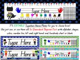 EDITABLE Superhero Name Plates (Queensland Beginner Font for Aussie Teachers)