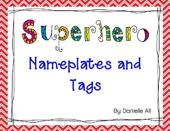 Superhero Name Plates and Tags