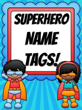 Superhero Name Tags [Freebie!]