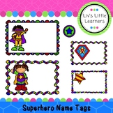 Superhero Name Tags / Labels