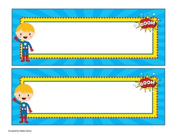 Superhero Name Plates {EDITABLE}