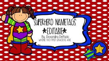 Superhero Name Tags [Editable]