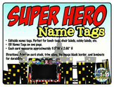 Superhero Name Tags {Editable Name Tags}