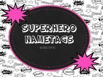 Superhero Name Tags {Freebie}