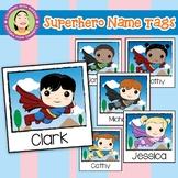 Superhero Name Tags - Polaroid Style in HD