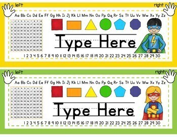 Superhero Name Tags for Student Desks