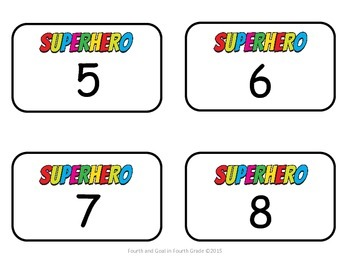 Superhero Name Tags/Locker Tags