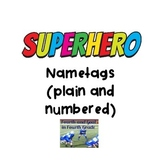 Superhero Name Tags/Locker Tags