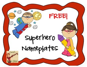 Superhero Nameplate Freebie