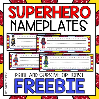 Superhero Nameplates - FREE!