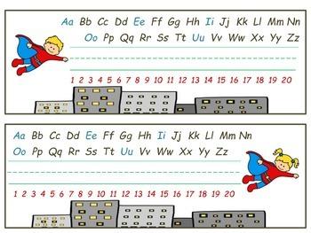 Superhero Nameplates