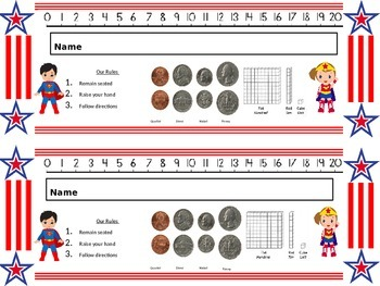 Superhero Nameplates 2nd Grade