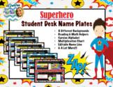 Superhero Nameplates (Billions to Hundredths)
