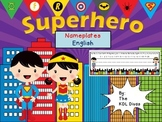 Superhero Nameplates: English