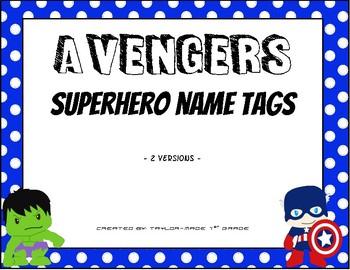 Superhero Nameplates with Data Information