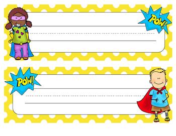 Superhero Nametags