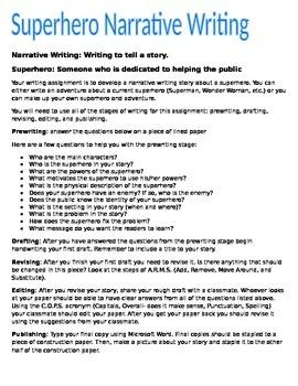 Narrative Writing: Superhero