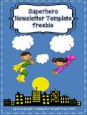 Superhero Newsletter Template freebie