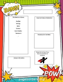 Superhero Newsletter Template