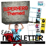 Superhero Editable Newsletter Templates
