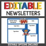 Editable Newsletters Superhero Style