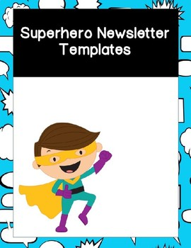 Superhero Newsletter Templates Editable
