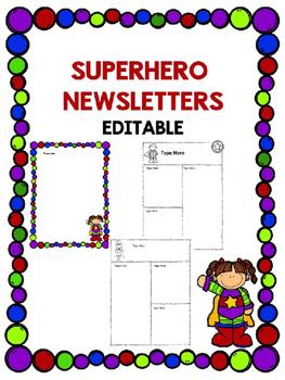 Superhero Newsletters -Editable