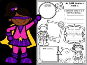 All About Me Superhero Themed Booklet