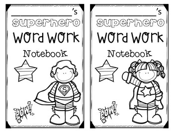 Superhero Notebook Covers