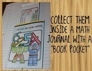 Superhero Number Bonds + Addition Mini-Books