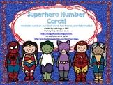 Superhero Number Cards!
