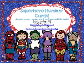 Superhero Number Cards!