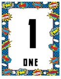 Superhero Number Line 0-20