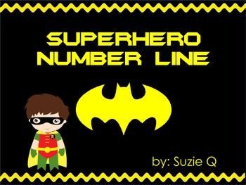 Superhero Number Line 1-120