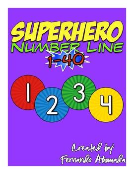 Superhero Number Line 1-20